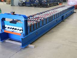 Roof tile profile machine