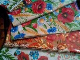 Скатерти. полотенца в украинском стиле, лён-рогожка